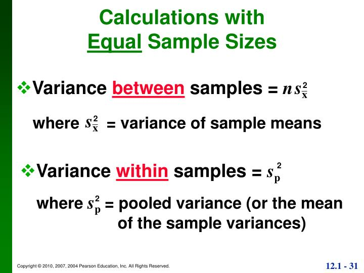 Calculations with
