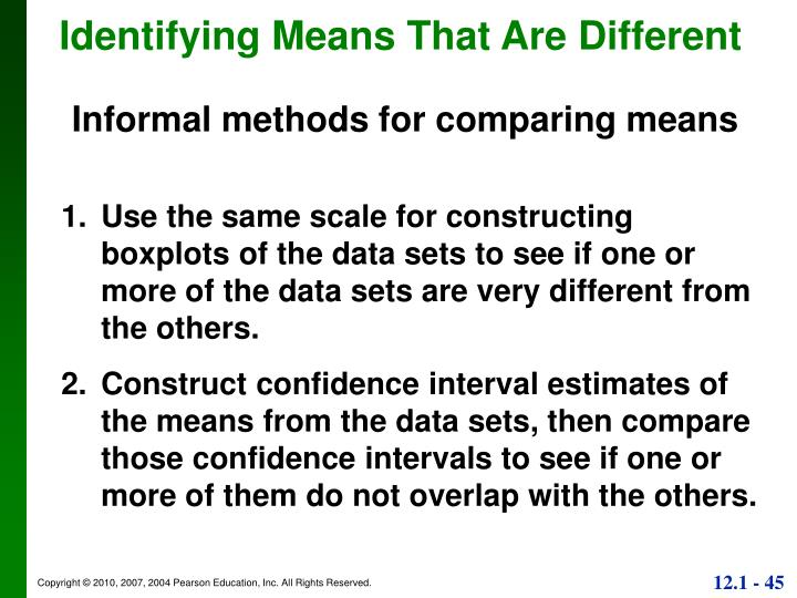 Identifying Means That Are Different