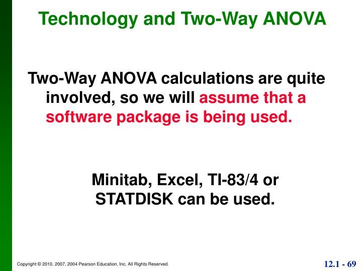 Technology and Two-Way ANOVA