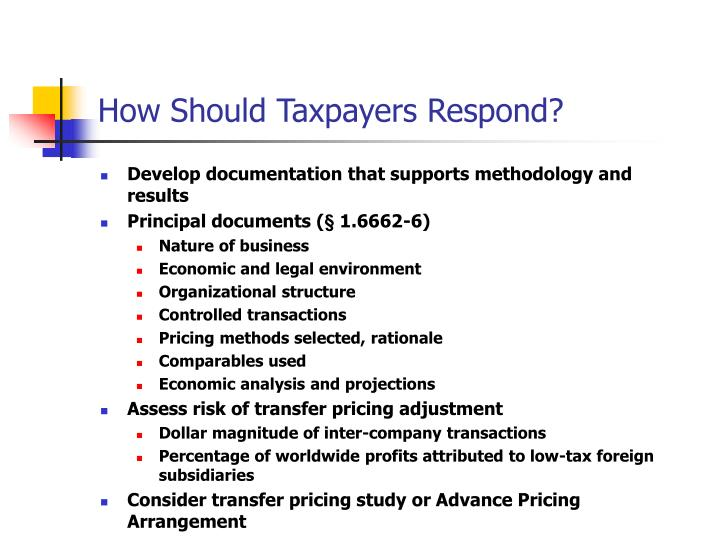 How Should Taxpayers Respond?