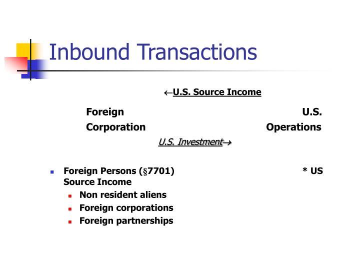 Inbound Transactions