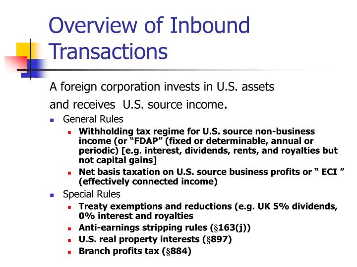 Overview of Inbound Transactions