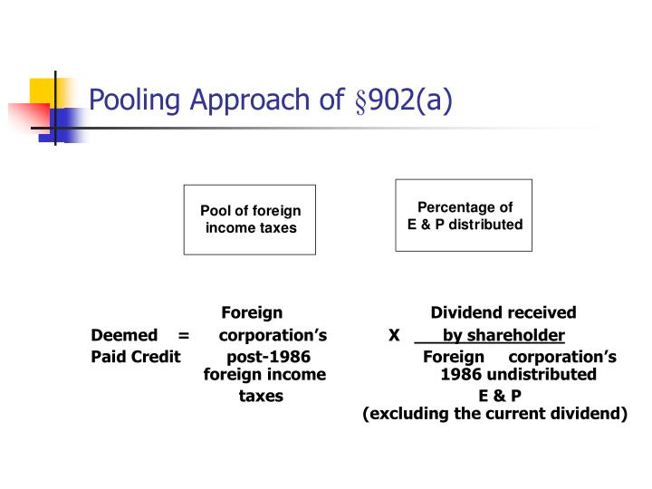 Pooling Approach of