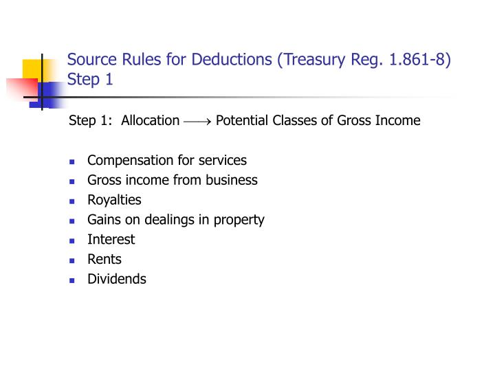 Source Rules for Deductions (Treasury Reg. 1.861-8)
