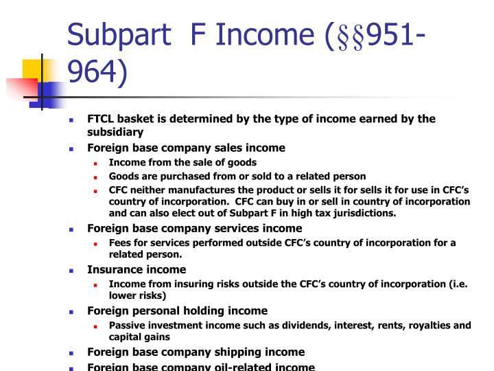 Subpart  F Income (