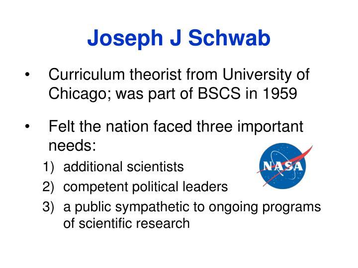 Joseph J Schwab