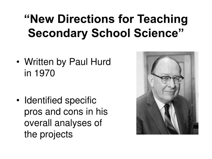 """""""New Directions for Teaching Secondary School Science"""""""