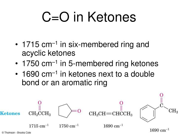 C=O in Ketones