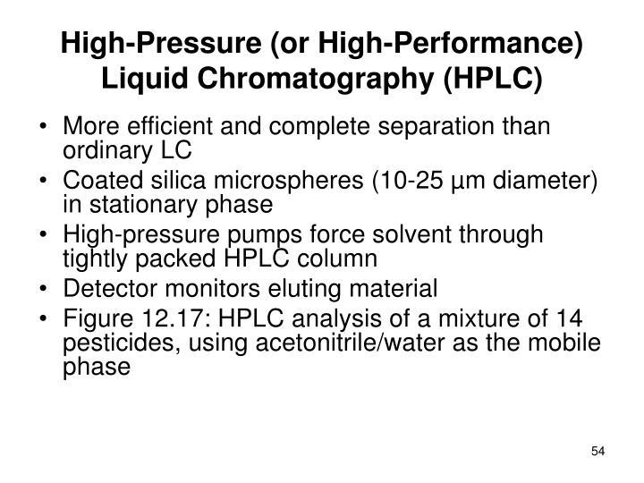 High-Pressure (or High-Performance) Liquid Chromatography (HPLC)