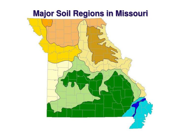 Major Soil Regions in Missouri