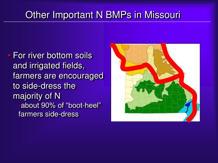 Other Important N BMPs in Missouri