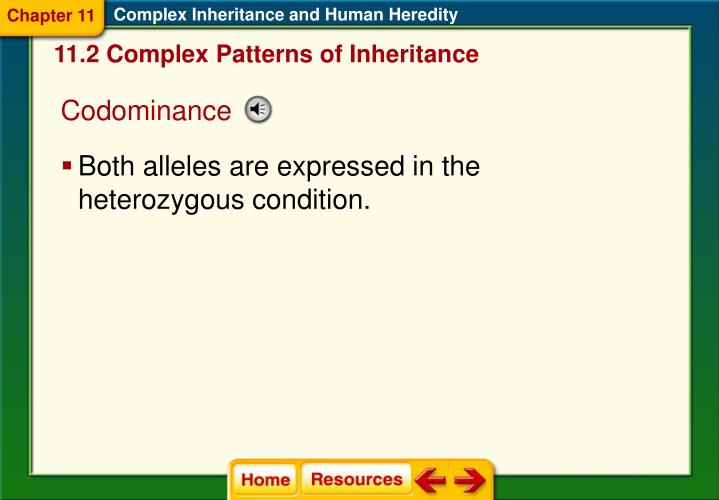 Complex Inheritance and Human Heredity