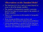 observations on the standard model