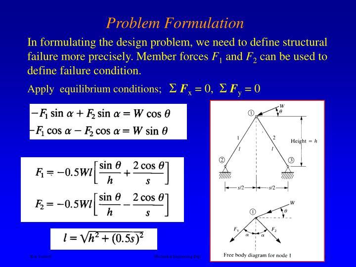 Apply  equilibrium conditions;
