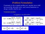 problem formulation7