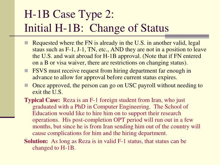H-1B Case Type 2:
