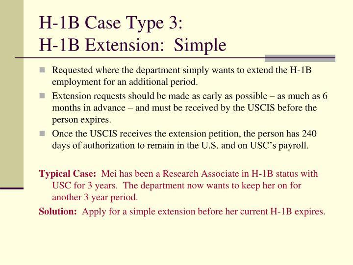 H-1B Case Type 3: