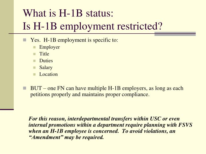 What is H-1B status:
