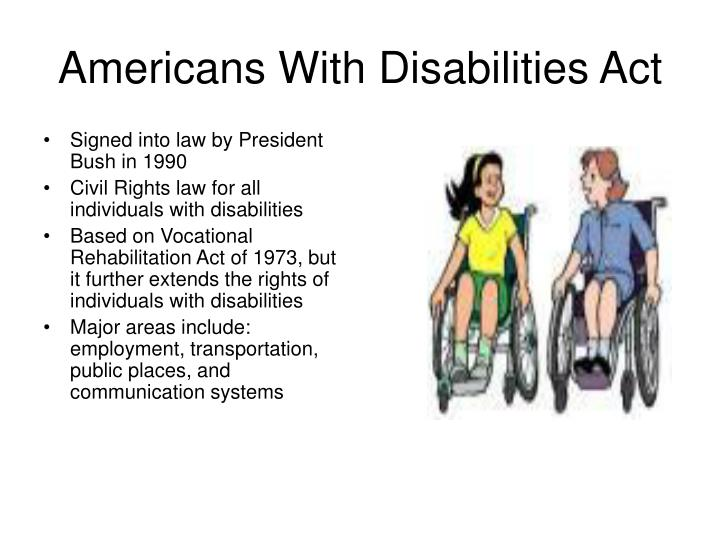 an overview of the americans with disabilities act The americans with disabilities act of 1990 (42 usc which found that the mere presence and importance of the seniority system was enough to warrant a summary judgment in favor of us airways.