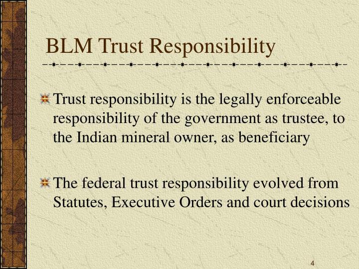 BLM Trust Responsibility