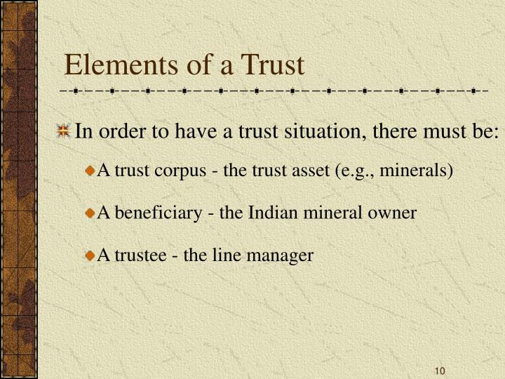 Elements of a Trust