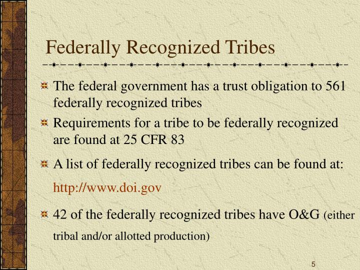 Federally Recognized Tribes