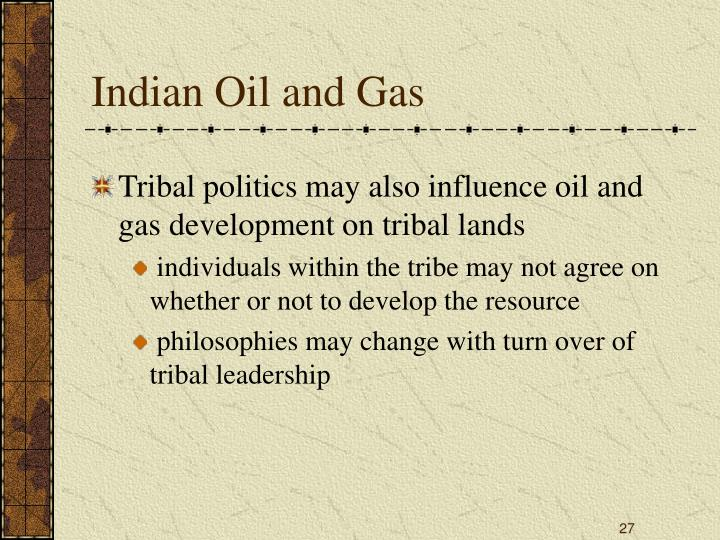 Indian Oil and Gas