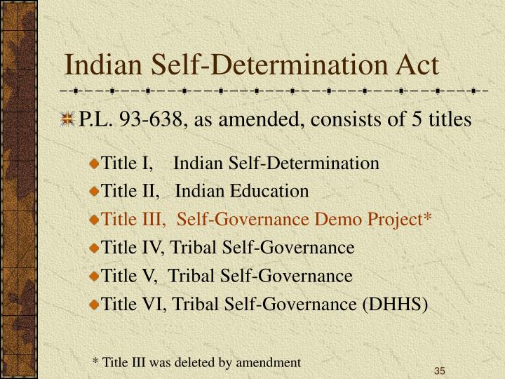 Indian Self-Determination Act