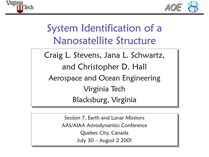System identification of a nanosatellite structure