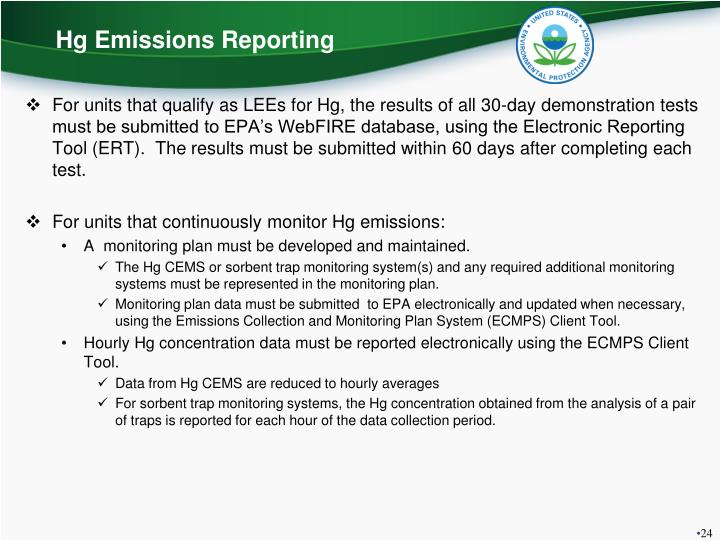 Hg Emissions Reporting