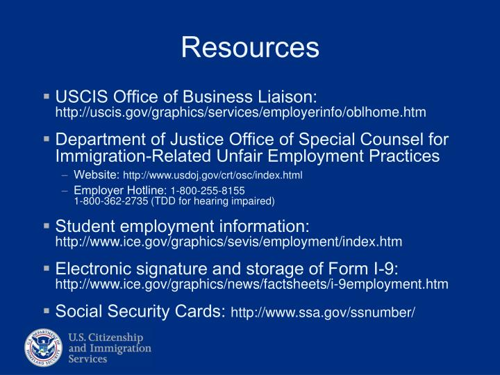 USCIS Office of Business Liaison: