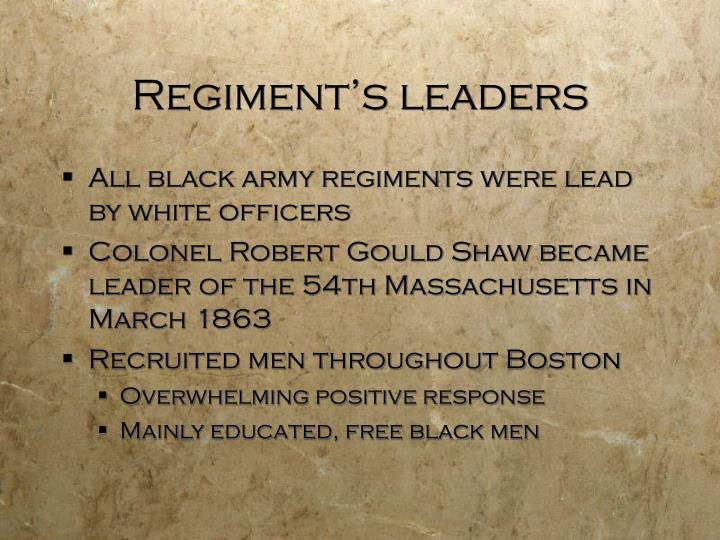 Regiment's leaders