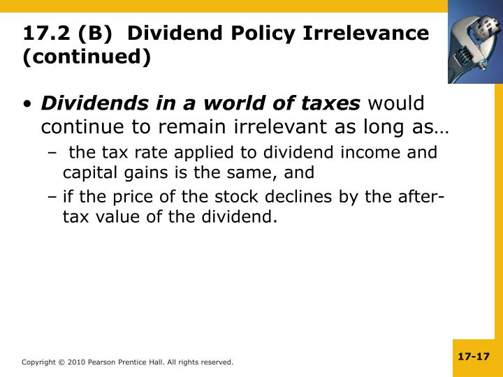 Dividends in a world of taxes