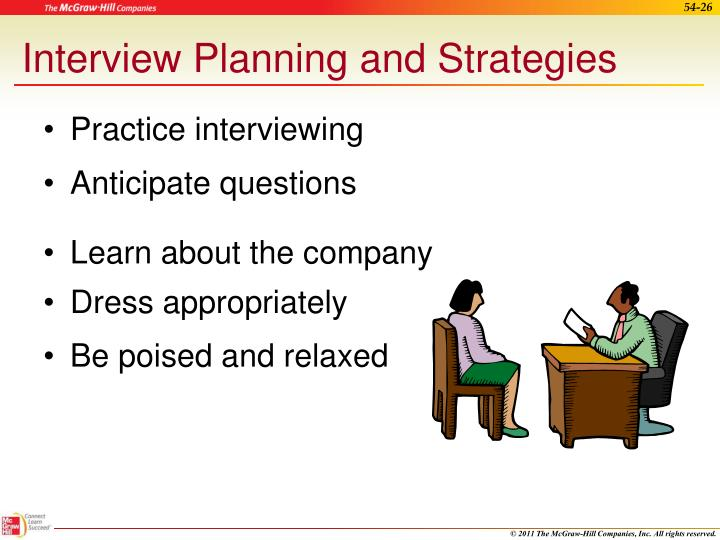 Interview Planning and Strategies
