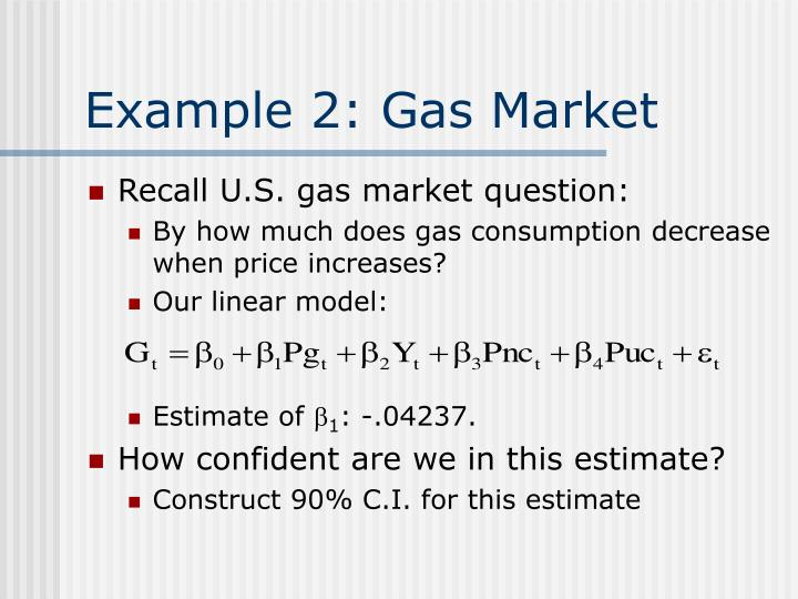 Example 2: Gas Market