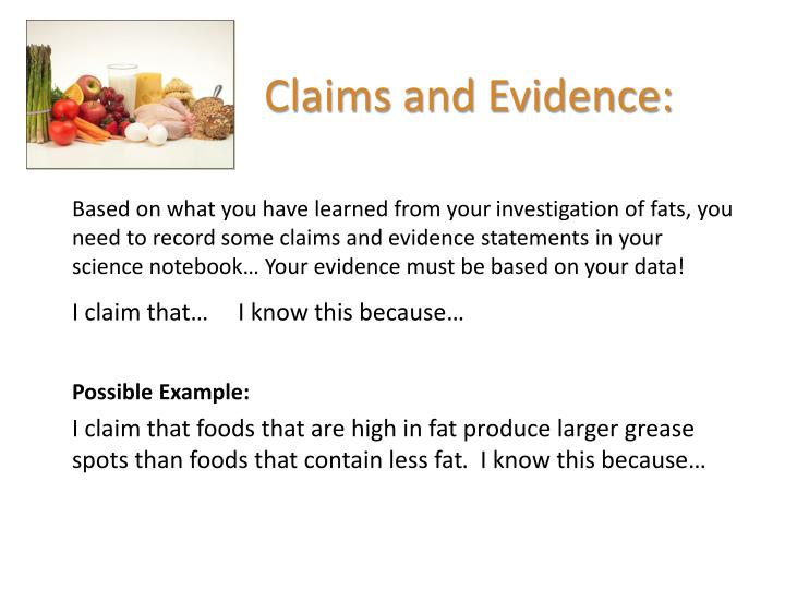 Claims and Evidence: