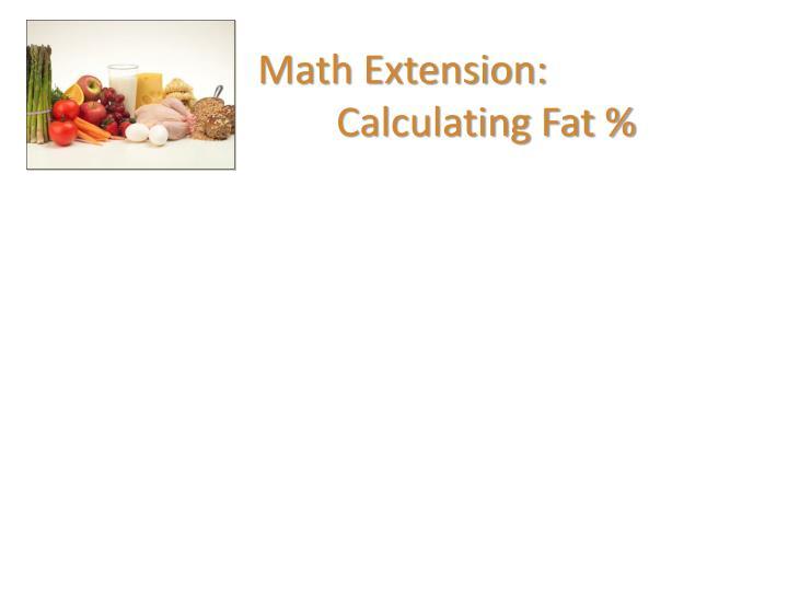 Math Extension: