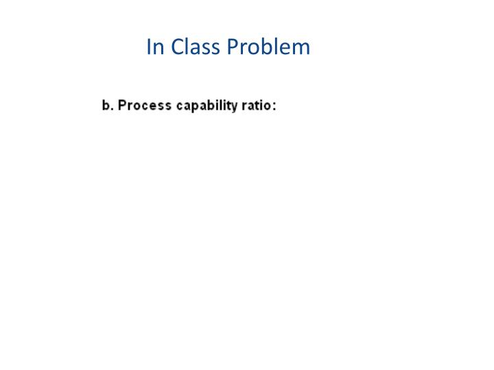 In Class Problem