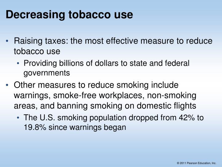 Decreasing tobacco use