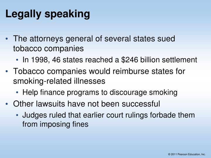 Legally speaking