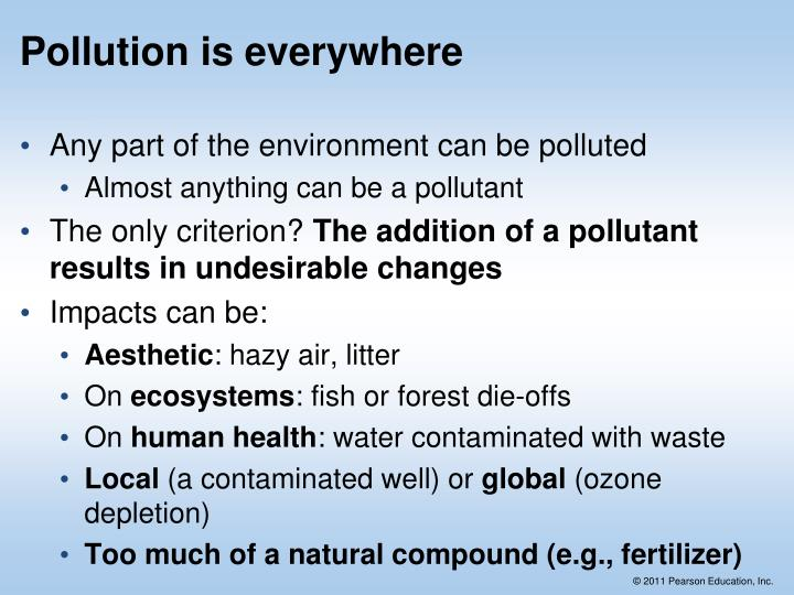 Pollution is everywhere