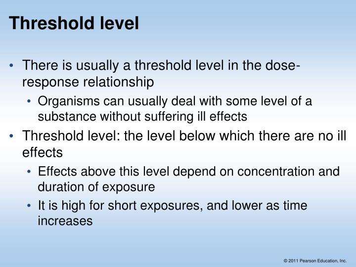 Threshold level