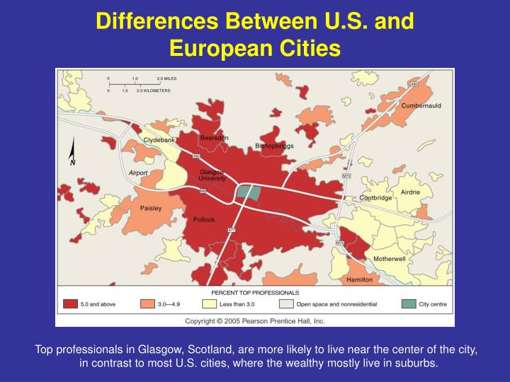 Differences Between U.S. and European Cities
