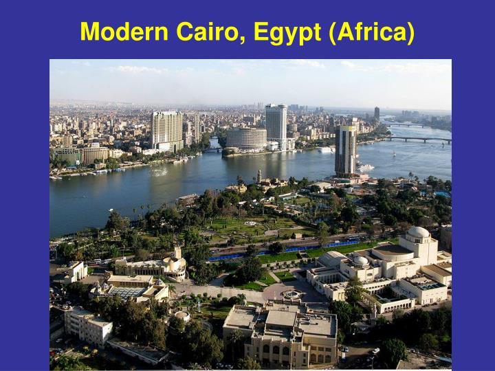 Modern Cairo, Egypt (Africa)