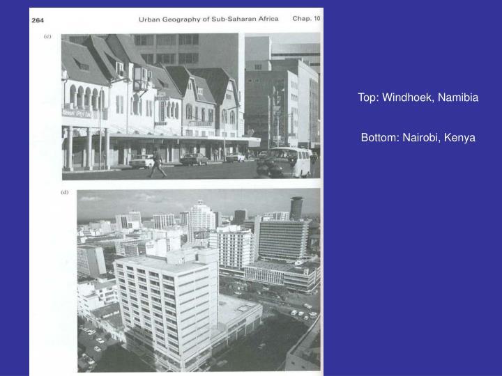 Top: Windhoek, Namibia