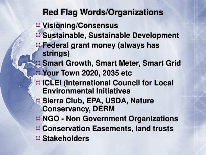 Red Flag Words/Organizations