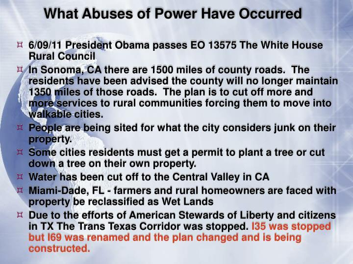 What Abuses of Power Have Occurred