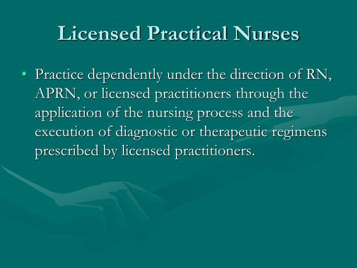 Licensed Practical Nurses