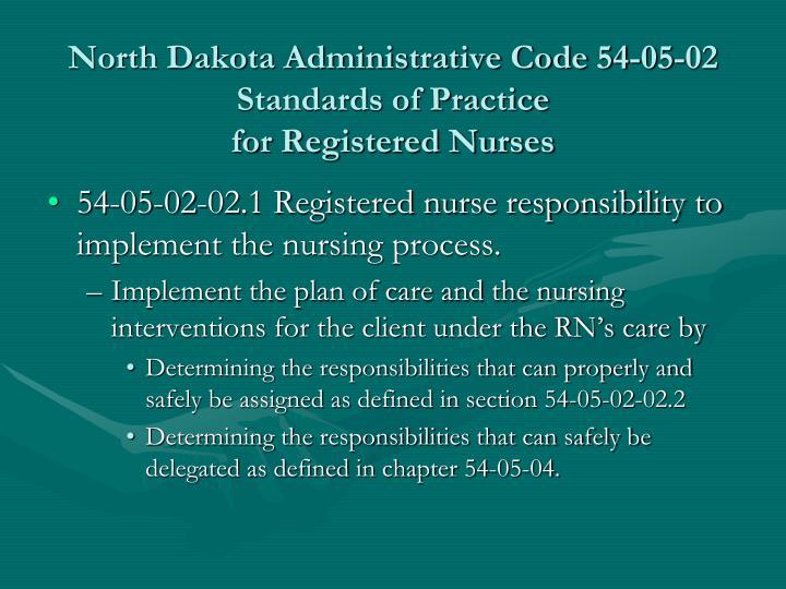 North Dakota Administrative Code 54-05-02