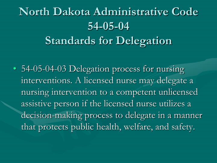 North Dakota Administrative Code 54-05-04
